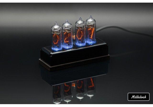 Nixie clock - in-14 nixie tube clock assembled acrylic enclosure adapter 4-tubes