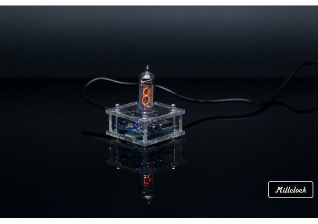 Nixie clock - IN-14 single digit nixie tube clock assembled with adapter
