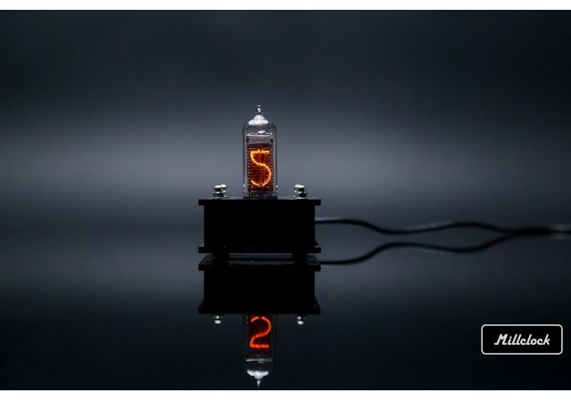 Nixie clock - in-14 single digit nixie tube clock assembled with adapter by millclock warranty