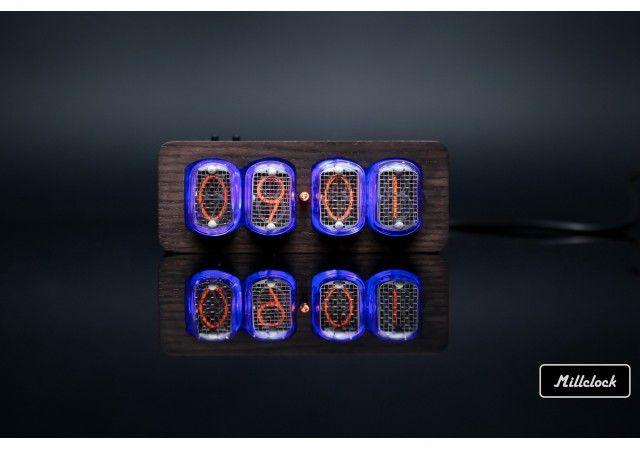 Uhren - IN-12 Nixie Rohruhr Nussbaumgehäuse Handgefertigte Retro 4-Röhren und Adapter von Millclock
