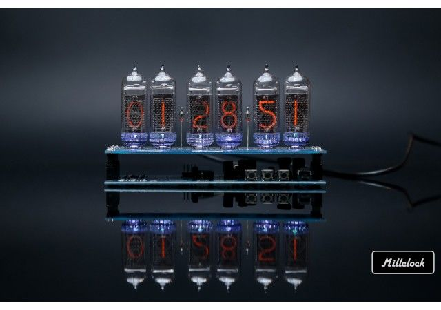 Nixie clock - in-14 nixie tube clock assembled with adapter 6-tubes w/out enclosure retro