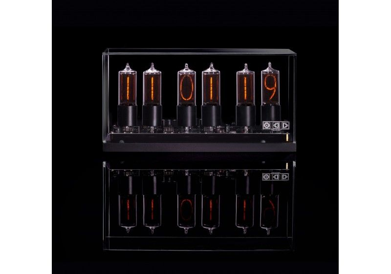 ZIN-18 nixie clock in black...