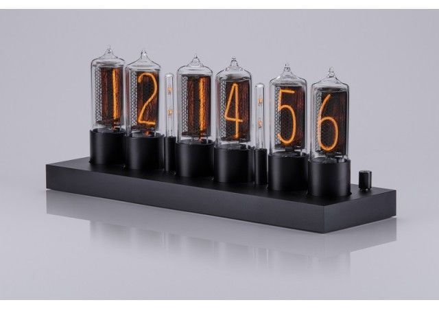 Zin18 Clocks - NEW! ZIN18 Nixie Clock Black Aluminium Case