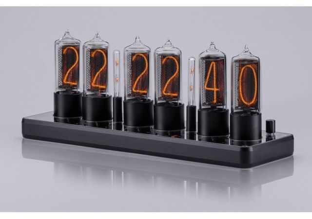 Uhren - NEW! ZIN18 Nixie Clock Black Aluminium Rounded Case