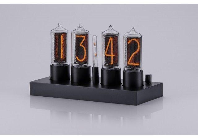 Zin18 Clocks - NEW! ZIN18 Nixie Clock Classic Black Aluminium Case 4 Tubes