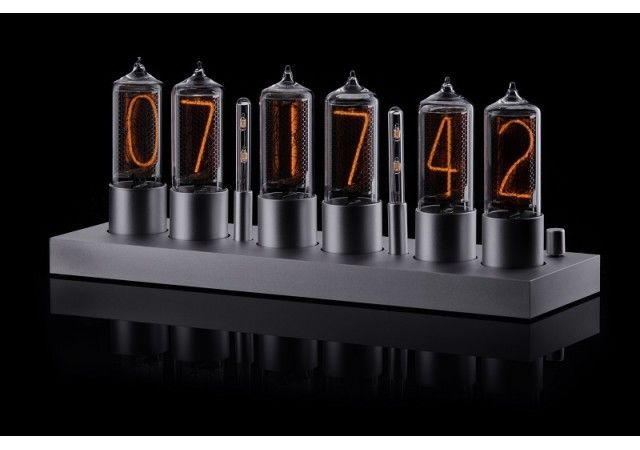 Zin18 Clocks - ZIN18 New Nixie Tube Clock Silver Aluminium Classic Case WIFI Android/Iphone Setup